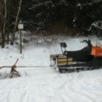 Loipenspurgerät unterwegs auf der Iberg-Loipe